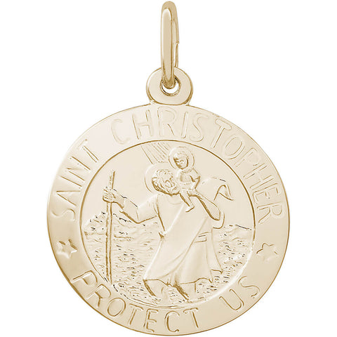 St. Christopher Disc Charm