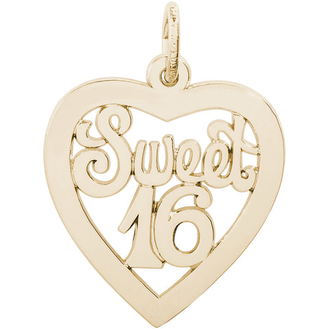 Sweet Sixteen Open Heart Charm