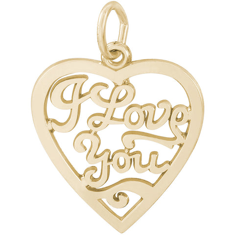 I Love You Open Heart Charm