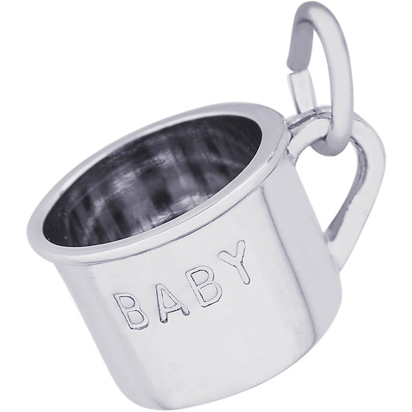 Inscribed Baby Cup Charm