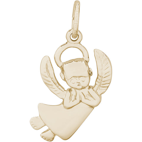 Flat Praying Angel Boy Charm