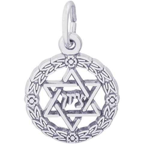 Star Of David Wreath Charm