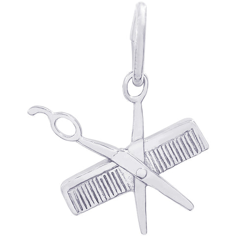 Small Comb & Scissors Charm