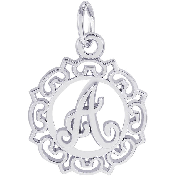ORNATE SCRIPT INITIAL A - Rembrandt Charms