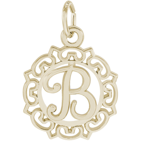 ORNATE SCRIPT INITIAL B - Rembrandt Charms