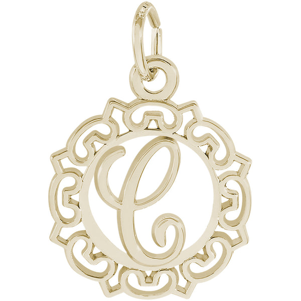 ORNATE SCRIPT INITIAL C - Rembrandt Charms