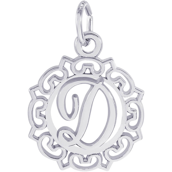 ORNATE SCRIPT INITIAL D - Rembrandt Charms