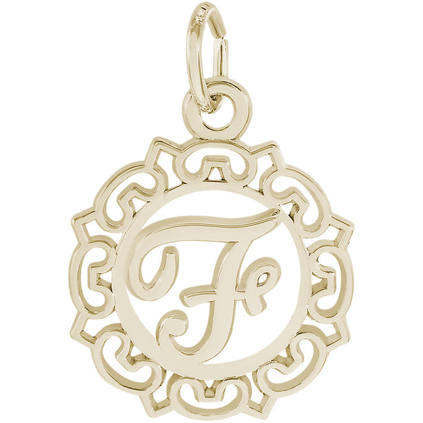 ORNATE SCRIPT INITIAL F - Rembrandt Charms