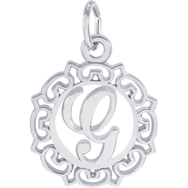 ORNATE SCRIPT INITIAL G - Rembrandt Charms