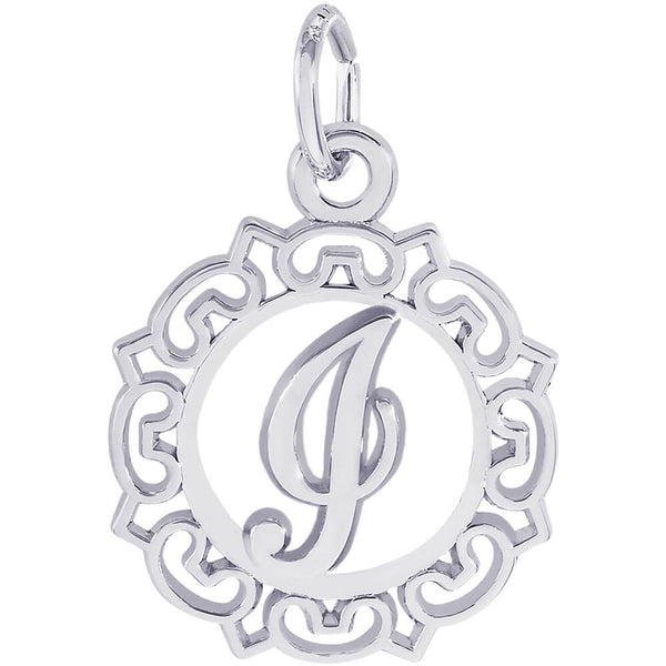 ORNATE SCRIPT INITIAL I - Rembrandt Charms