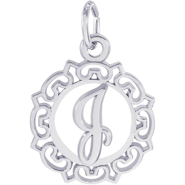 ORNATE SCRIPT INITIAL J - Rembrandt Charms