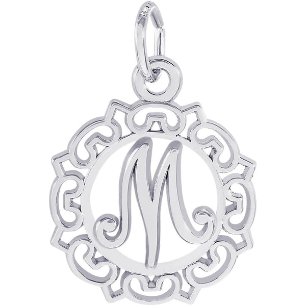 ORNATE SCRIPT INITIAL M - Rembrandt Charms