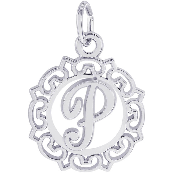 ORNATE SCRIPT INITIAL P - Rembrandt Charms
