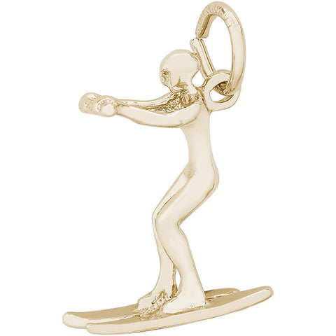 Water Skier Charm