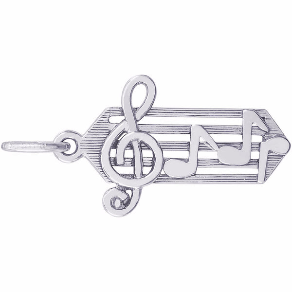 Small Music Staff Charm