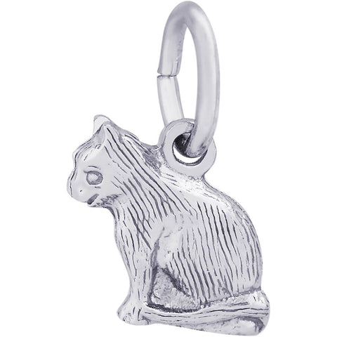 Sitting Cat Accent Charm