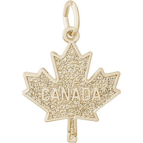 Flat Canada Maple Leaf Charm