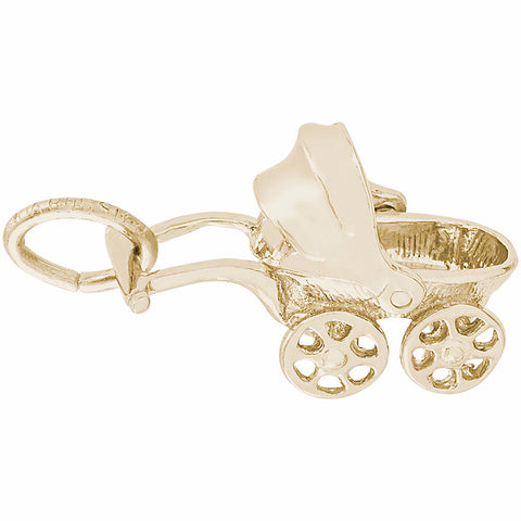 Canopy Baby Carriage Charm