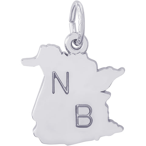 New Brunswick Map Charm