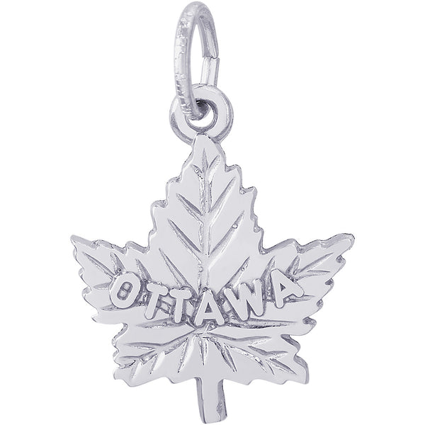 Ottawa Maple Leaf Charm