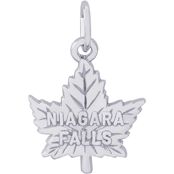 Niagara Falls Maple Leaf Charm