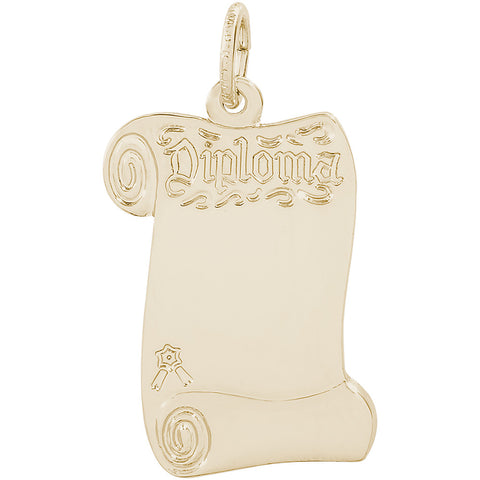 Blank Opened Diploma Charm