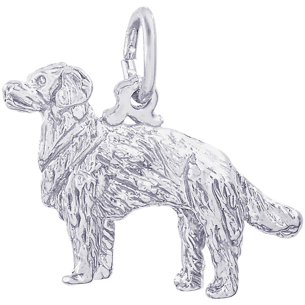 Golden Retriever Dog Charm