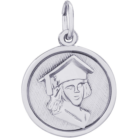 Female Graduate Disc Charm
