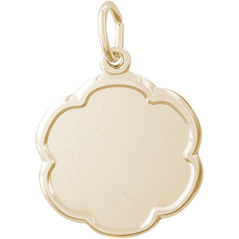 Blank Scalloped Disc Charm