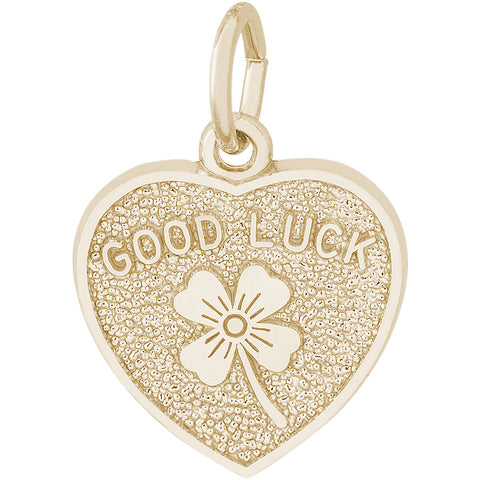 Good Luck Heart Charm