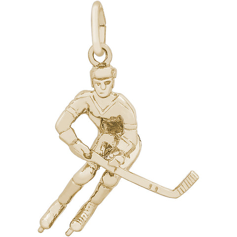 Male Hockey Player Charm