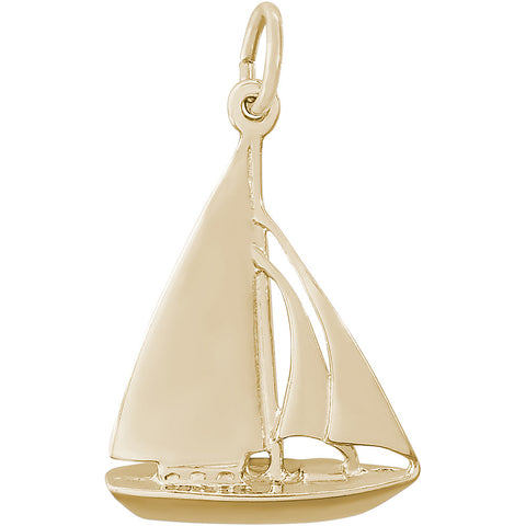 Cutter Sailboat Charm