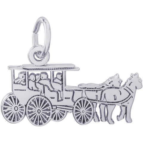Flat Horse & Carriage Charm