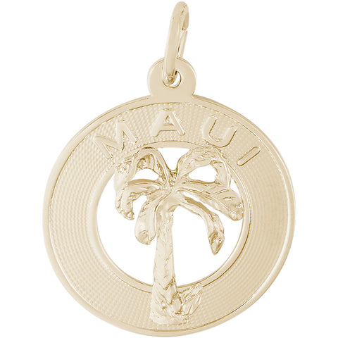 Maui Palm Tree Disc Charm