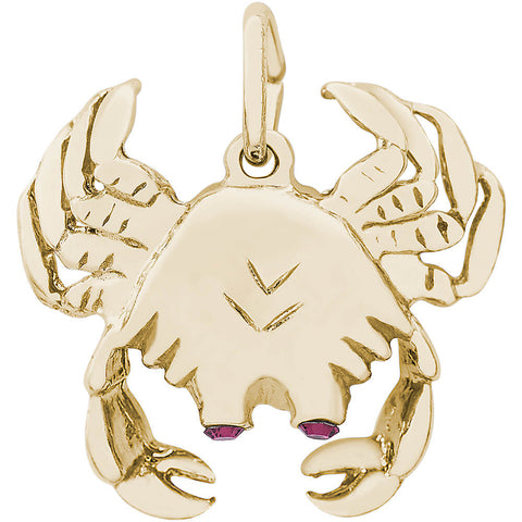 Crab With Stones Charm