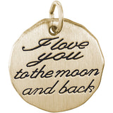 I Love You To The Moon And Back Charm Tag - Rembrandt Charms - 2
