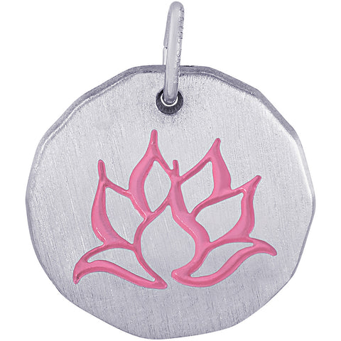 Lotus Flower Charm Tag