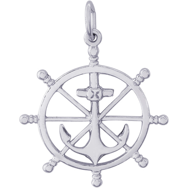 Anchor & Ships Wheel Charm