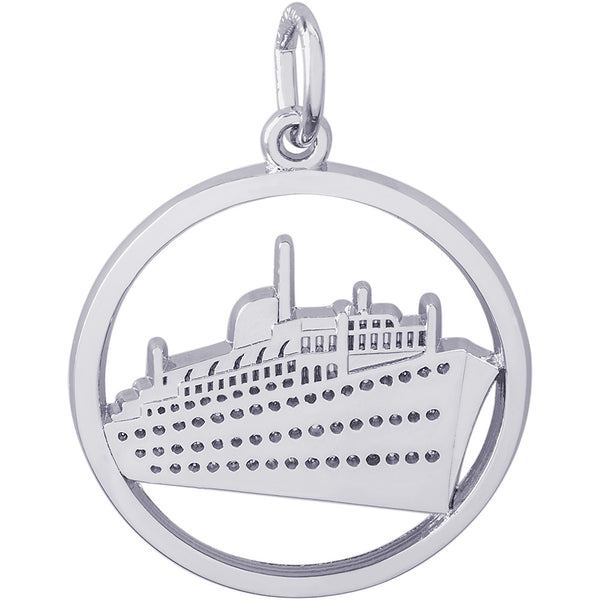 Ringed Cruise Ship Charm