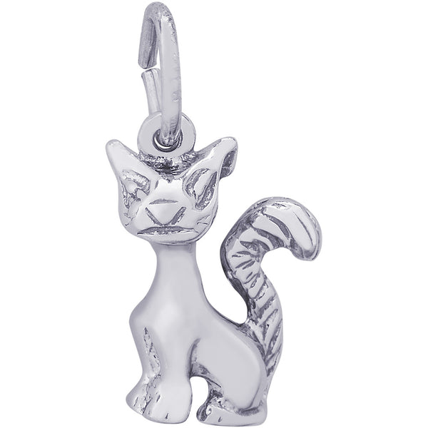 Long Tailed Cat Charm
