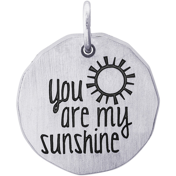 You Are My Sunshine Charm Tag