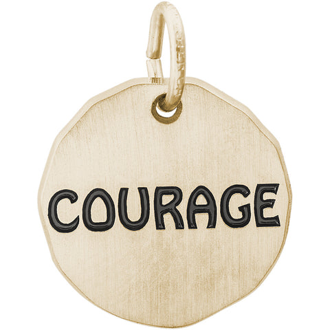 Courage Charm Tag