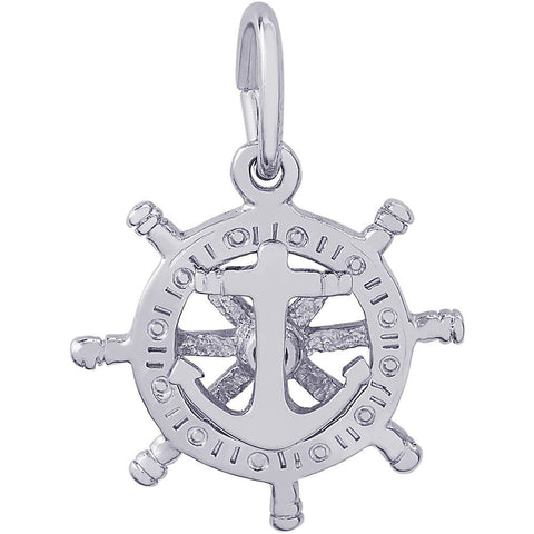 Small Anchor & Ships Wheel Charm