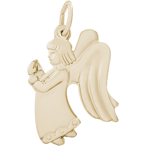 Flat Praying Angel Girl Charm