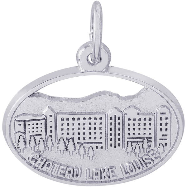 Chateau Lake Louise Oval Disc Charm