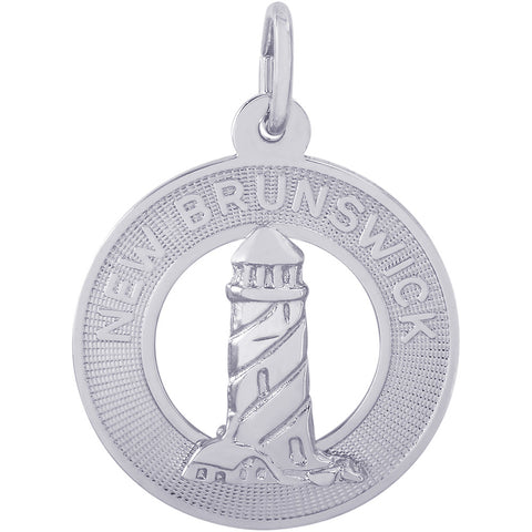 New Brunswick Lighthouse Ring Charm