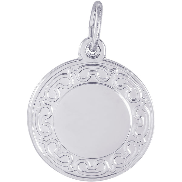 Ornate Round Disc Charm