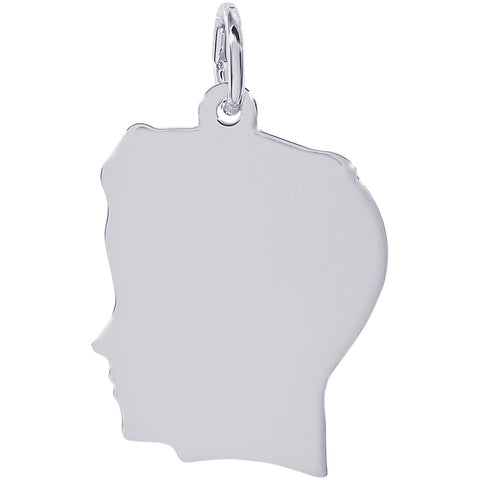 Flat Large Boy's Head Charm