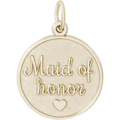 Maid Of Honor Disc Charm