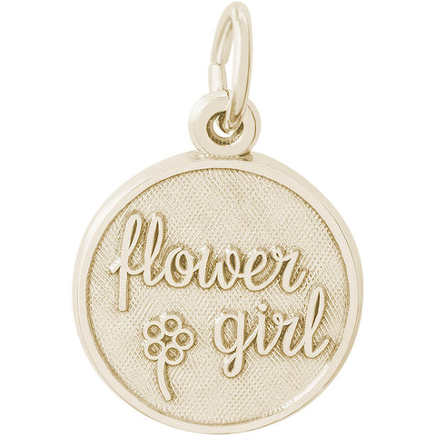 Flower Girl Disc Charm